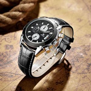 Image 5 - MEGIR Original Men Quartz Watch Reloj Hombre Leather Business Watches Man Clock Chronograph Army Military Watch Sport Male 2020