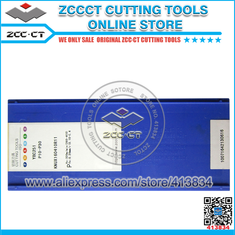 10pcs ZCCCT KNUX160410R11 YBC251 KNUX KNUX160410 KNUX16 ZCC CT Cemented Carbide external inserts for CNC tools