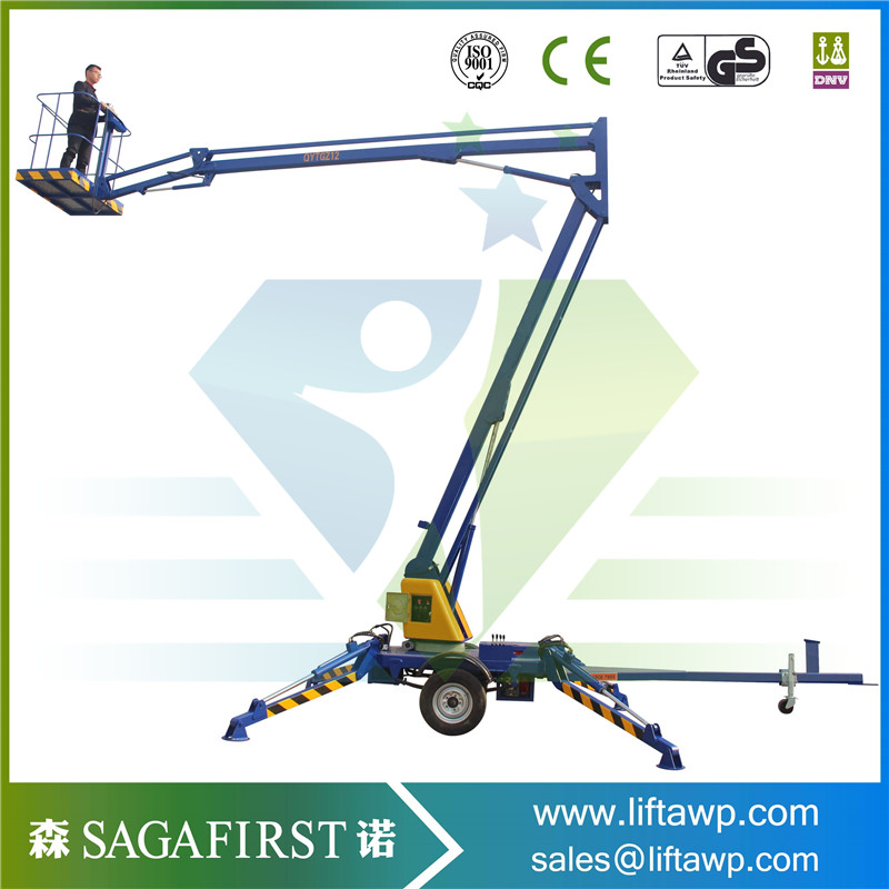 SINOFIRST Good Quality Towable Trailed Hydraulic Cherry Picker for Sales
