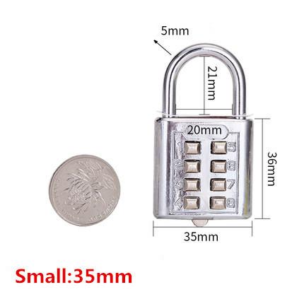4-5 Digit Push Button Combination Travel Lock
