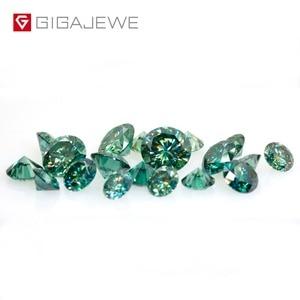 Image 4 - GIGAJEWE GEMA de diamante de laboratorio, piedra suelta de laboratorio de corte redondo verde oscuro, 1,0 CT, para joyería DIY, regalo de novia