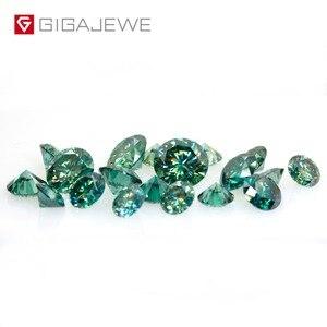 Image 4 - Камни GIGAJEWE с муассанитом карат, круглый темно зеленый лабораторный бриллиантовый камень для самостоятельного изготовления ювелирных изделий, подарок для девушки