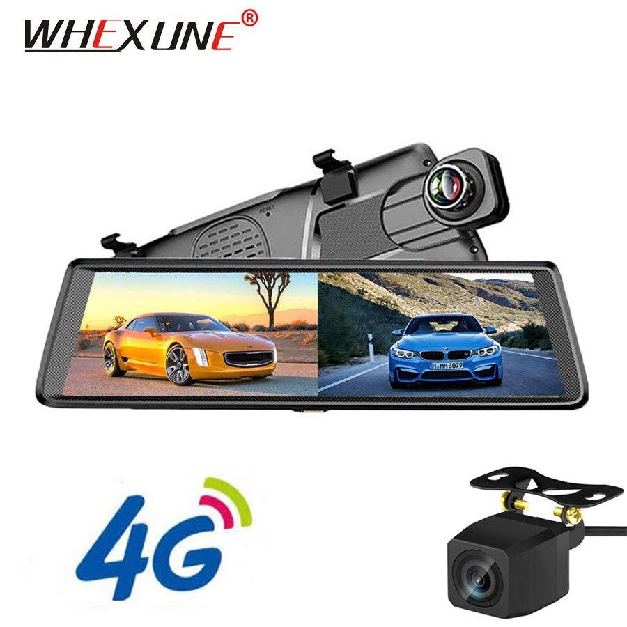 WHEXUNE 10 4G Android автомобильный зеркальный видеорегистратор gps навигация ADAS Full HD 1080 P камера заднего вида WiFi Bluetooth dvr