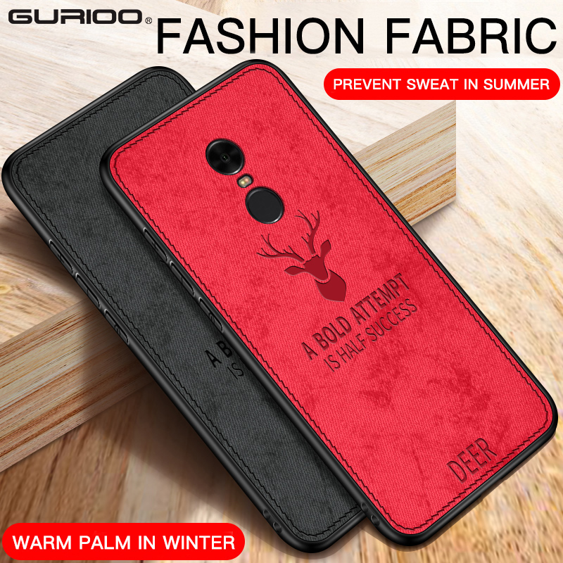 Deer Cloth Phone Case On For Xiaomi Redmi 5A 6A 5 Plus 6 7 K20 Pro S2 Y3 GO Note 5 5A 4 4X 6 7 Pro Leather TPU Back Cover Coque