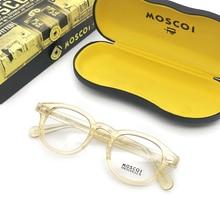 Eyeglasses Frame Men Women With Box&Case Computer Optical Retro Johnny Depp Glasses Spectacle For Male Clear Lens TJ0001
