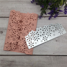 New Arrival Flower Metal Steel Cutting Dies Silver For Scrapbooking Album Paper Card Stencil Craft Template 135x52mm