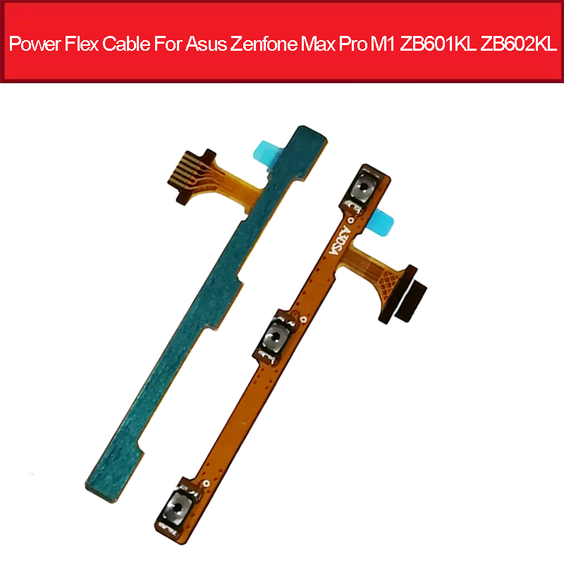 On Off Power & Volume Button Flex Cable For Asus ZenFone Max Pro (M1) ZB601KL ZB602KL Power Volume Switch Flex Ribbon Parts