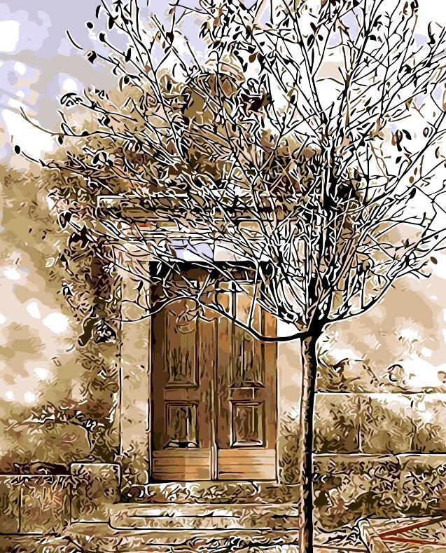 Fantasia portão porta velha imagem abstrata Pintura A Óleo Por Número  Digital Imagem Coloração por mão Única Presente quarto Decoração de  Casa|Pintura e Caligrafia| - AliExpress
