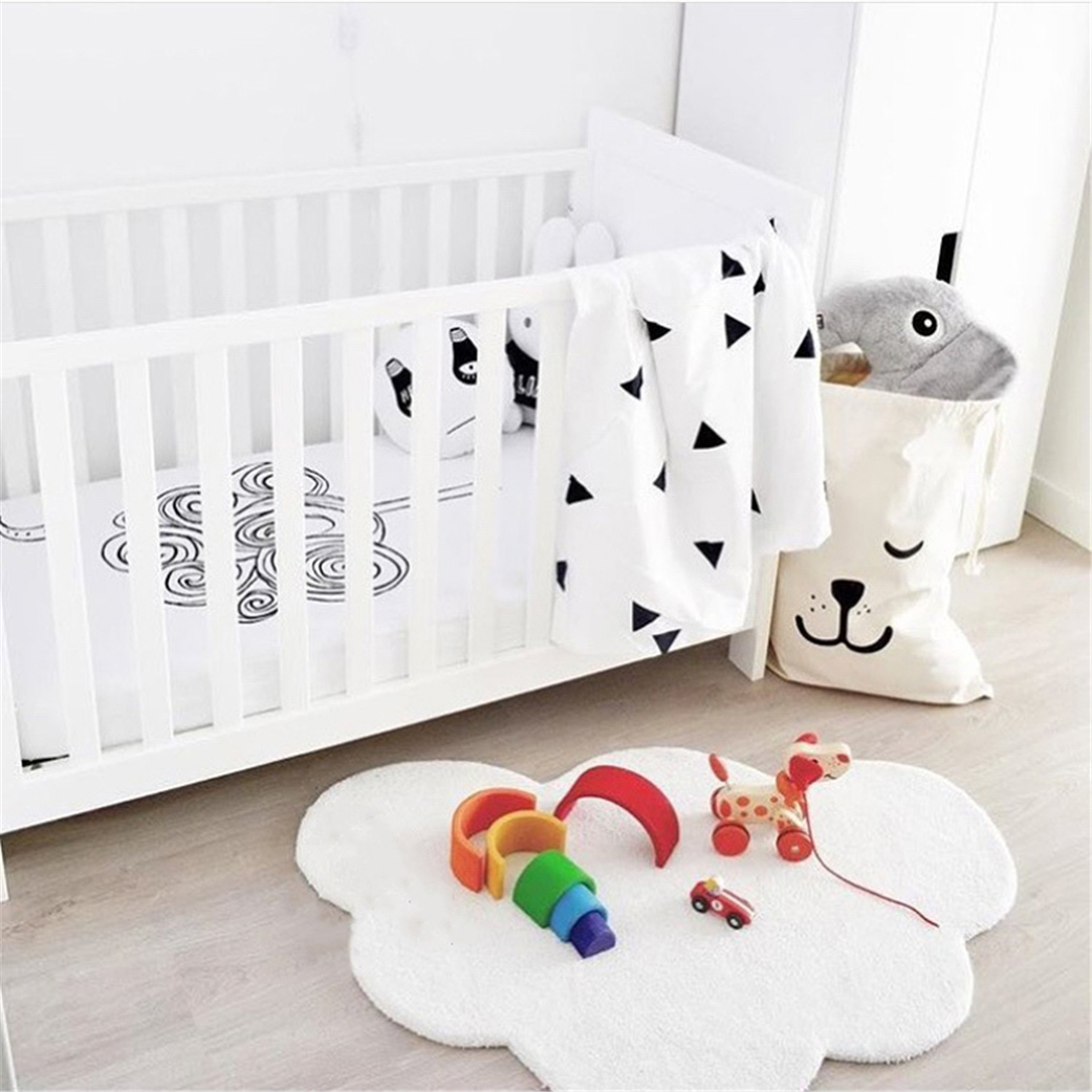 INS Nordic Style Baby Cloud Cotton Setting Mat Children's Non Slip Game Soft Pad Crawling Mat Home Decoration Photo Props