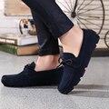EOFK homme Mocasín Mocasines Resbalón En los zapatos Planos Ocasionales de Los Hombres Zapatos de Marca De Zapatos De Gamuza Slipony Pisos Mocasines los hombres Zapatos de Conducción