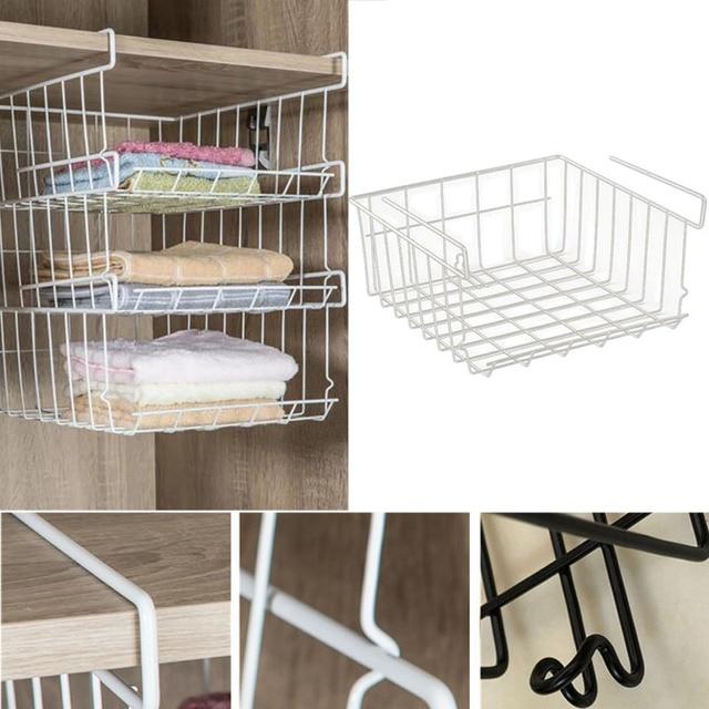 Kitchen Cabinet Storage Organizers Banquettes New Style Non Folding Rack Cabinets Organizer Shelf Board Detachable Laundry Basket