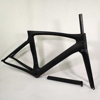 THRUST-Cuadro de bicicleta de carretera de carbono, 2017 T1000, marco de bicicleta de carretera negro 46 49 52 54 56 58cm, marco de carbón barato chino, bicicletas de carretera