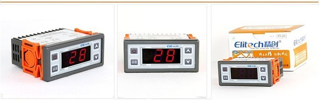 Free shipping temperature controller STC-200+ 220 VAC 10A with two meters NTC sensor heating and cooling