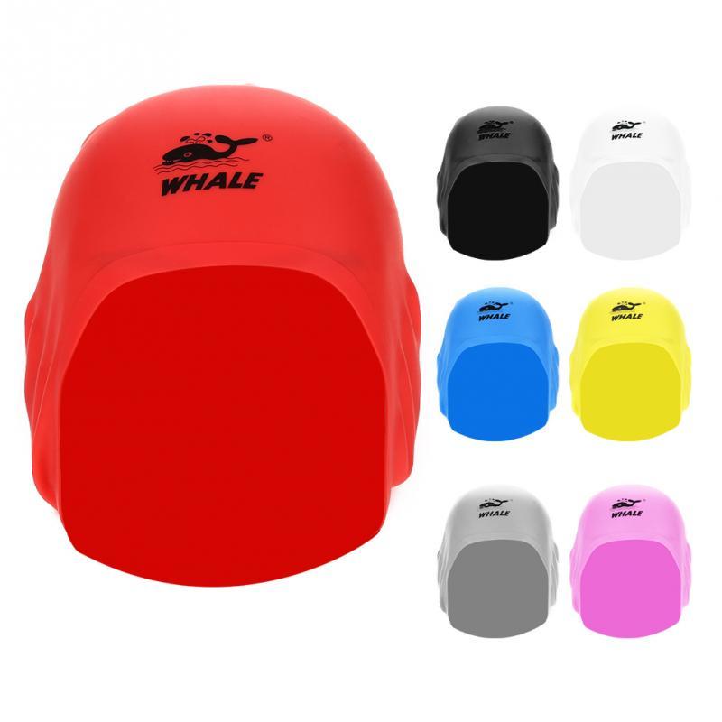 7Colors Adult Silicone Waterproof 3D Elastic Swimming Caps For Women Long Hair Swimming Hat Cover Ear Bone Pool Swim Cap