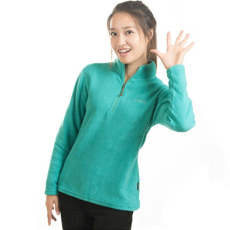 women s outdoor half zipper fleece jackets thin thermal soft antistatic anti