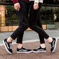 Unisex de Lona Zapatos Casuales Para Hombre Zapatos Casuales de Verano Zapatos de Plataforma Plana Con Zapatos de Retazos de Los Hombres