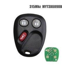 3Button Remote Car key Fob For MYT3X6898B 315Mhz For Chevrolet Trailblazer/For Buick Rainier/For GMC Envoy Car Keys цена