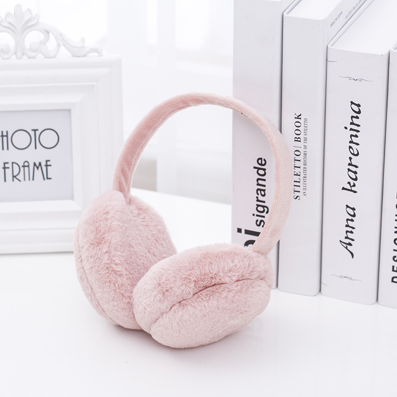 New Design Winter Earmuffs For Women Girls Boys Fur Earmuffs Warmers Winter Comfortable Warm Winter Earmuffs E001-peach