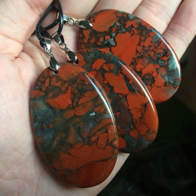 Oval Bloodstone Necklace