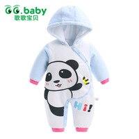 新生児ロンパース赤ちゃん男の子ロンパース冬長袖綿の服幼児ベビー服ジャンプスーツ暖かい漫画赤ちゃん男の子パジャ