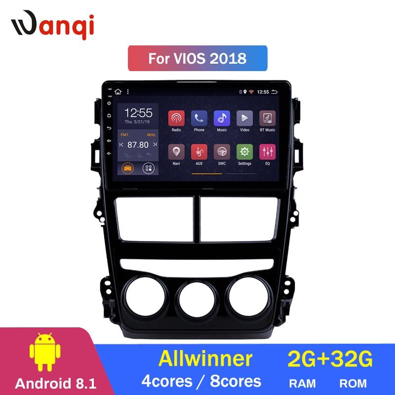 2G RAM 32G ROM Android 8.1 GPS Navigation Car Radio Multimedia Player Wifi Head Unit For 2018 Toyota Vios2G RAM 32G ROM Android 8.1 GPS Navigation Car Radio Multimedia Player Wifi Head Unit For 2018 Toyota Vios