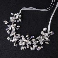 Heißer Verkauf Tiara Hochzeit Haare Kämmen Vintage Style Bridal Haarschmuck Kristall Bouquet Sammlung Top-qualität Handmade