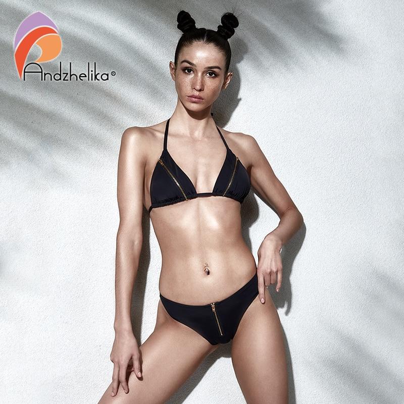 Super Girl Zipper Bandeau Low Rise Bottom Dc Comics Bikini Bathing Suit Swimwear