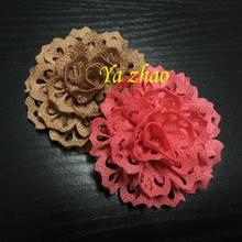 45 шт./партия, новинка, петелька, плотная ткань, цветок, тканевый цветок для волос, красивый свадебный цветок, 15 цветов
