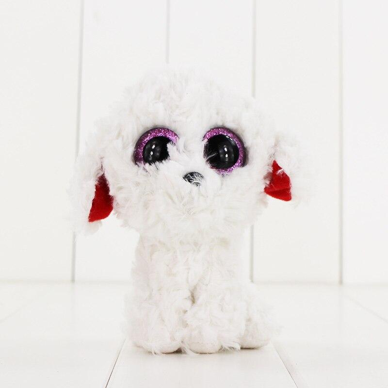 15 см Ty Beanie Боос большие Средства ухода для век плюшевые игрушки куклы красный уха белая собака ty подарок для маленьких детей Коллекция Мягки...