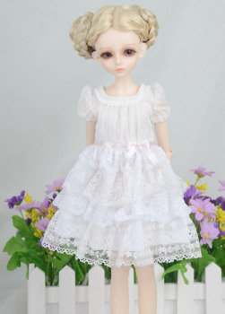 New Arrival 1/3 1/4 1/6 BJD Doll Dress White Colors Dress Clothes Toy Accessories фото
