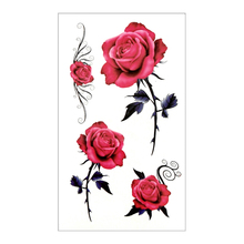 Waterproof Temporary Tattoo Sticker 10.5×6 Cm Rose Flower Tattoo Water Transfer Fake Flash Tattoos For Men Girl