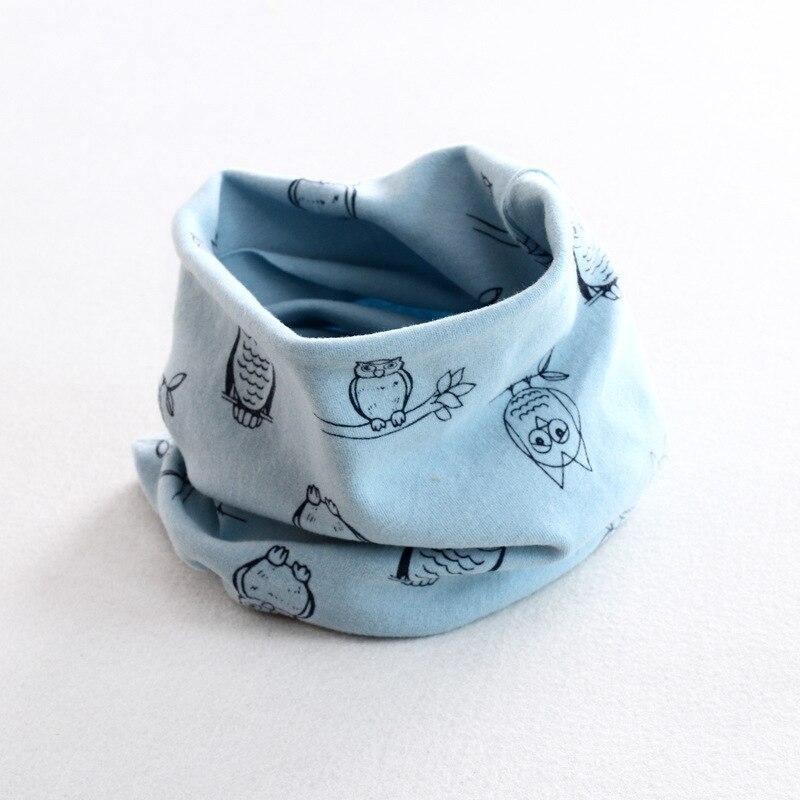 Осенне-зимний детский хлопковый шарф для девочек и мальчиков теплые шарфы Детский круглый кольцевой ошейник Детский шарф детский волшебный шейный платок - Цвет: owl 3
