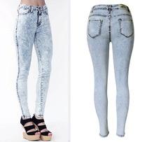 2016 Women Spring Slim Feet Pants Pencil Long Blue Stretch Jeans Women Denim Pants