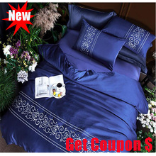High quality silk cotton 4pcs solid color duvet cover pillowcase bed sheet sets hot sale bedding set quilt bedskirt