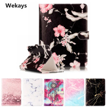 Wekays 7 Universal Tablet Case For Universal 7 Inch Cover Flip PU Leather Stand Kickstand Case Cartoon Windbell Fundas Coque цена