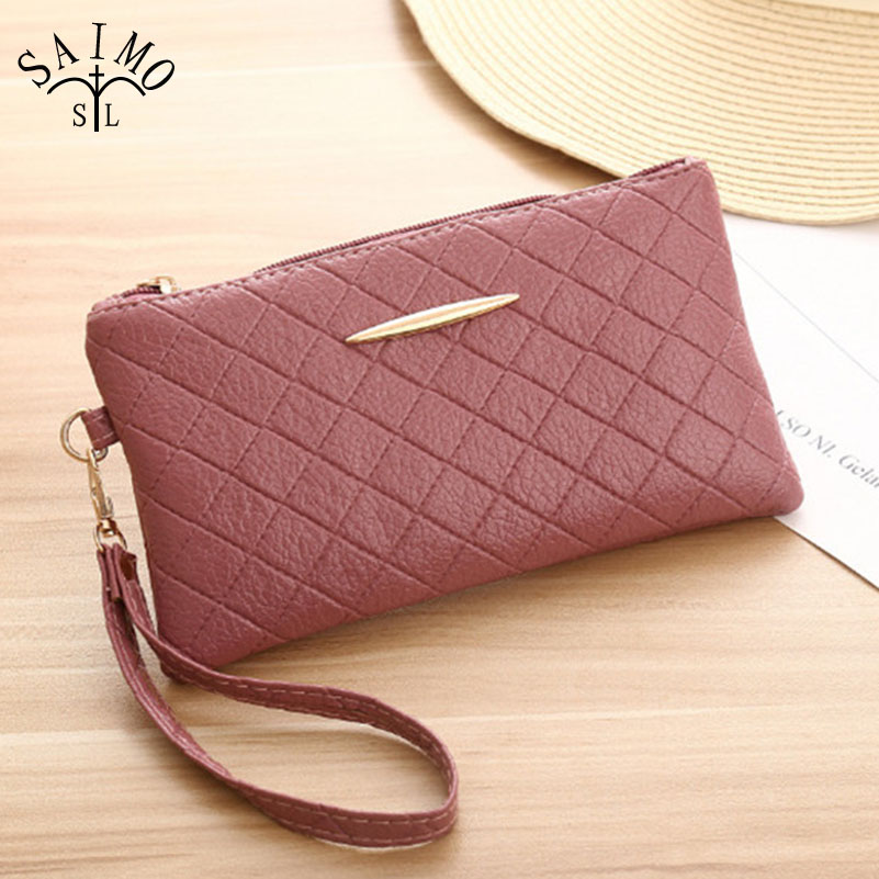 6aee7a557ef Fashion Soft PU Leather Wallet Lady Long Design Clutch Phone Zipper Women  Hand Bag Small Square Womens Wallets And Purses 100g-in Wallets from  Luggage ...
