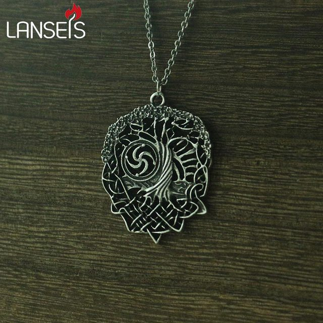 Lanseis10pc Tree Of Life Necklace Family Tree Slavic Rod Symbol