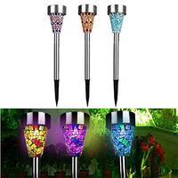 3pcs Lot Solar LED Lawn Light Garden Yard Solar Lamps Path LED Solar Lights Waterproof Outdoor