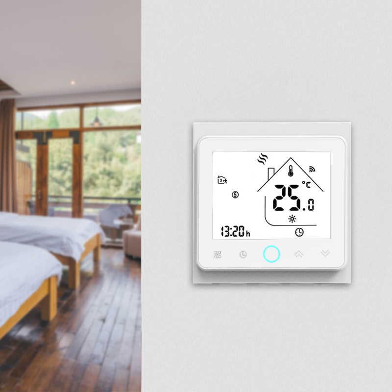 4 tubos WiFi inteligente Central aire acondicionado termostato controlador de temperatura 3 velocidad ventilador bobina unidad trabajo con Alexa Google Home