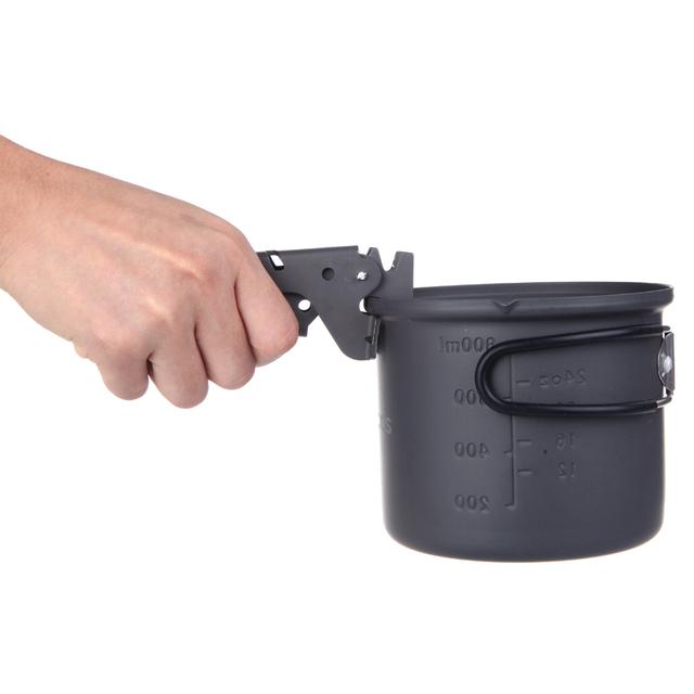 alocs Anti-Scald Ultralight Outdoor Camping Barbecue Cookware Tools Pan Bowl Pot Gripper Anodized Aluminum Pot Pliers Clamp