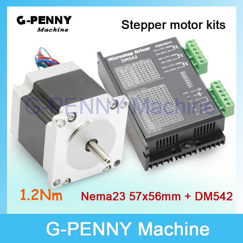 цена на NEMA 23 CNC Stepper Motor 57x56 nema 23 stepping motor 3A 1.26N.m stepping motor 180Oz-in for CNC engraving machine 3D printer