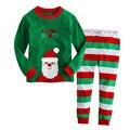 2016 conjuntos de roupas de Algodão Dos Desenhos Animados dos cervos do Natal de ano novo meninos meninas roupas crianças camiseta e calças crianças conjuntos de pijama T0240