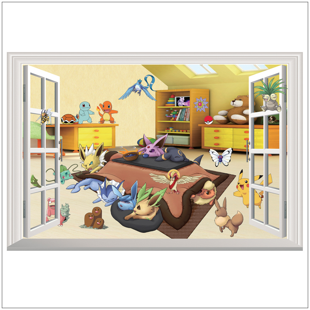 Bedroom wall with posters - 3d Wall Stickers Pet Elf Children Decorative Posters Decorative Mural Decorative Art Living Bedroom Home Decorative