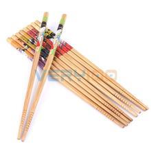 5 пар в комплекте натуральные бамбуковые палочки для еды палочки ручной работы для еды прочный