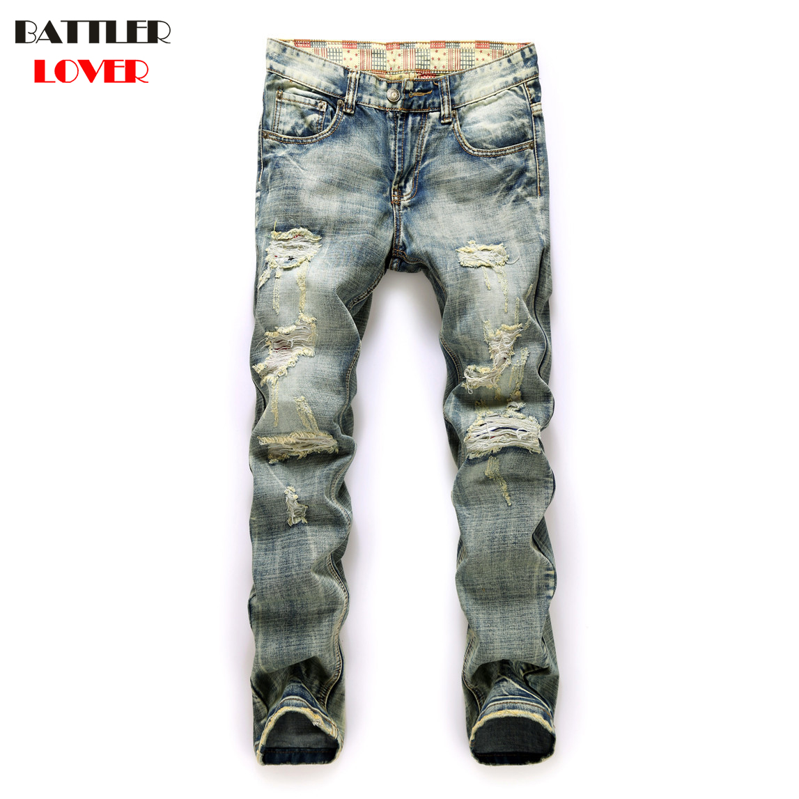 2017highquality mens ripped biker jeans 100 Motor Jeans Men Biker Street Dance Jeans Luxury Designer Trousers Mens Hip Hop Ripped Hole Jeans Pant Males Casual Brand Pants