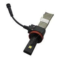 Auto LED Headlight Kit NO Fan Heatsink Build in 40W 5000LM H8 H11 Pure White 12V 24V Car Head Lamp Kit 6000K fog Light