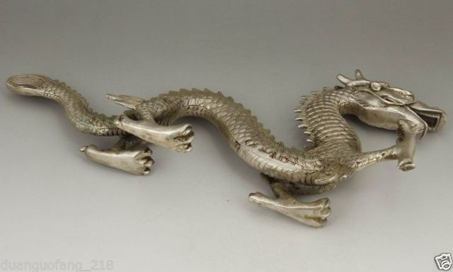 Izraditi kineski stari kolekcionarni tibetanski srebrni bakreni - Kućni dekor - Foto 6