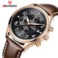 Мужские часы LONGBO  спортивные  повседневные  кварцевые  с кожаным ремешком  80173
