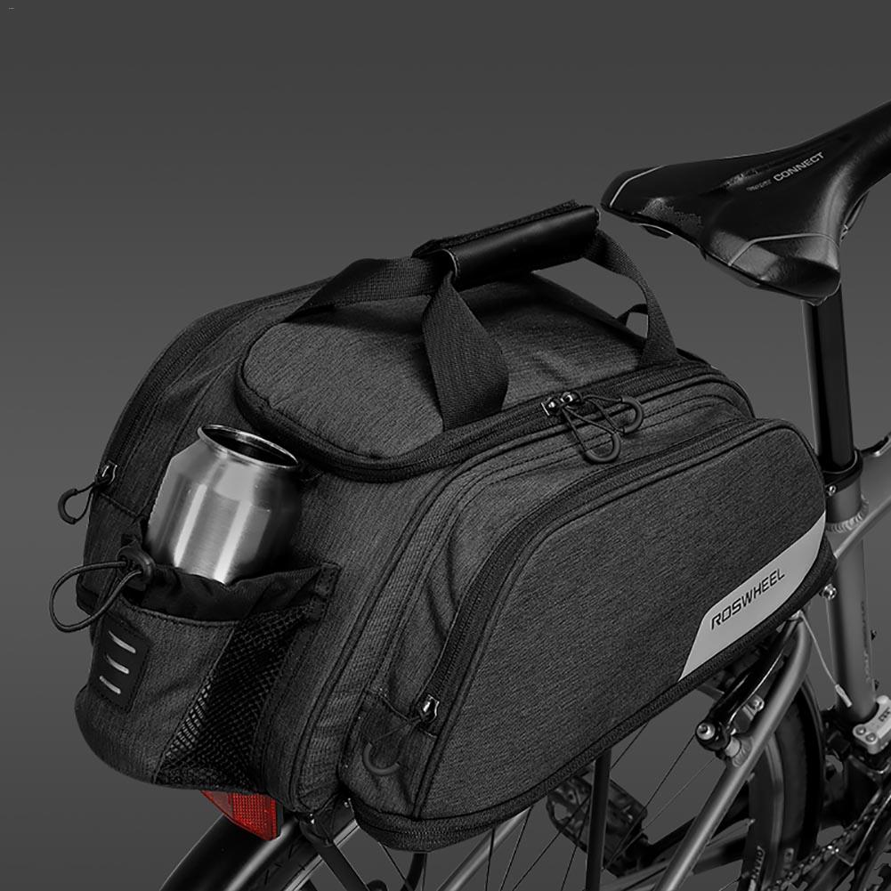 2018 bicycle equipment bicycle carbon fiber leather bicycle rear shelf seat with lid bag and shoulder bag