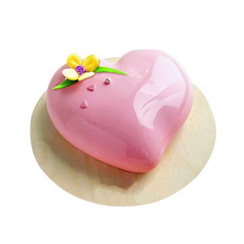 Shenhong Komma Herz Form Kuchen Form Zum Backen Dessert Kunst Mousse